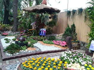 Stand de concurso de jardines