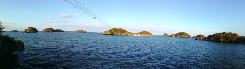 Vista Panorámica desde la isla vecina a Quezon