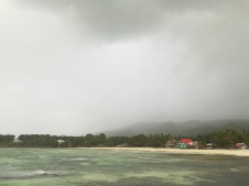La tormenta entrando en la isla