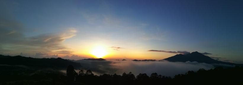 Panorámica del amanecer
