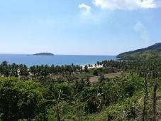Vistas de las playas del este desde la carretera