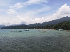 Foto turística de la playa de Sabang