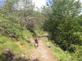 Bajando del Col de Pau hacia Lescun
