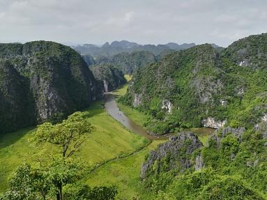 Vistas hacia el recorrido Tam Coc