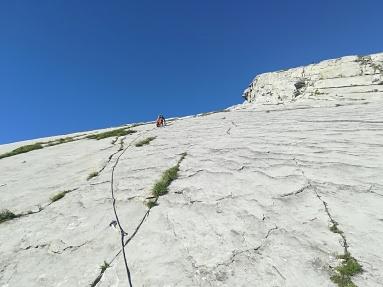 Primeros largos y tónica general de la vía