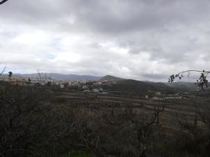 Las nubes al fondo amenazando lluvias