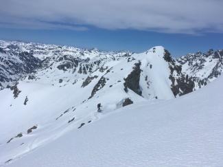 La úñtima cima ya con casi 1700m de desnivel