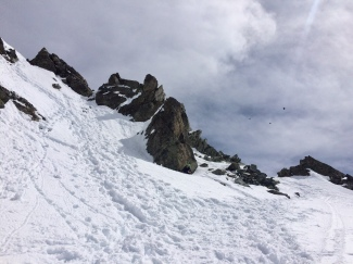subiendo a Chalausspitze 3096