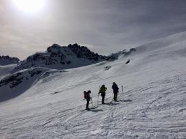 Empezando la zona de glaciar