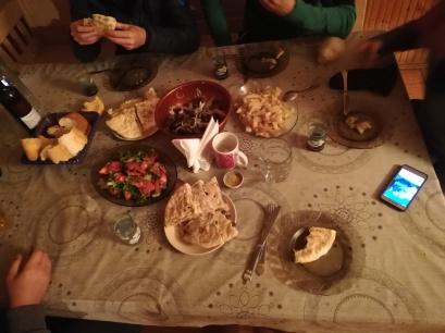 Última cena antes de subir a la montaña