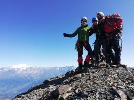 Diego, Txeki y yo en la cumbre