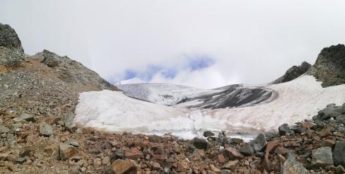 Inicio del glaciar hacia el campo base